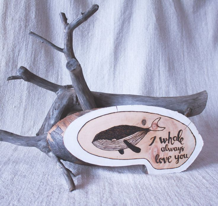 Punny quote and whale are handburned on the wood slice from dried pine tree. Wood slice measures about 11 inches. Wood is not treated.   Shop this product here: spreesy.com/Tundrada/2   Shop all of our products at http://spreesy.com/Tundrada      Pinterest selling powered by Spreesy.com