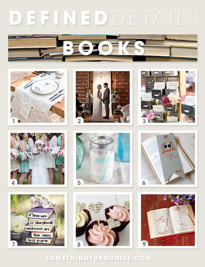 Defined Details | The Book Lovers Wedding