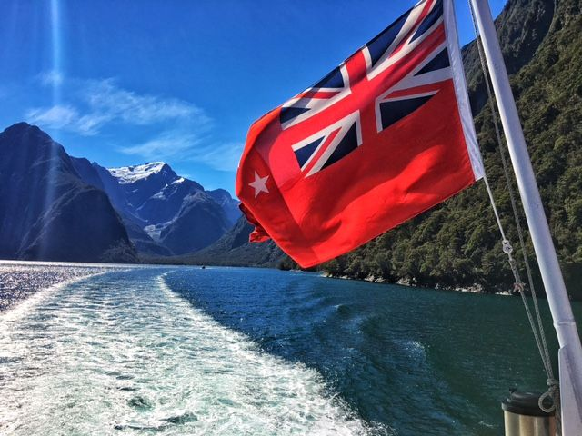 Beautiful day for a cruise in Milford Sound.