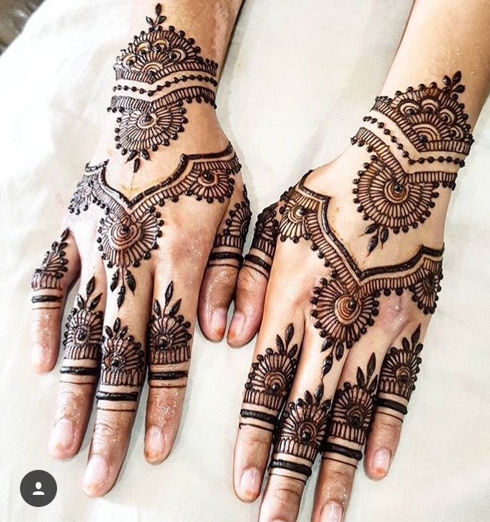 Henna design taken from Instagram ....  Look into more by clicking the picture link