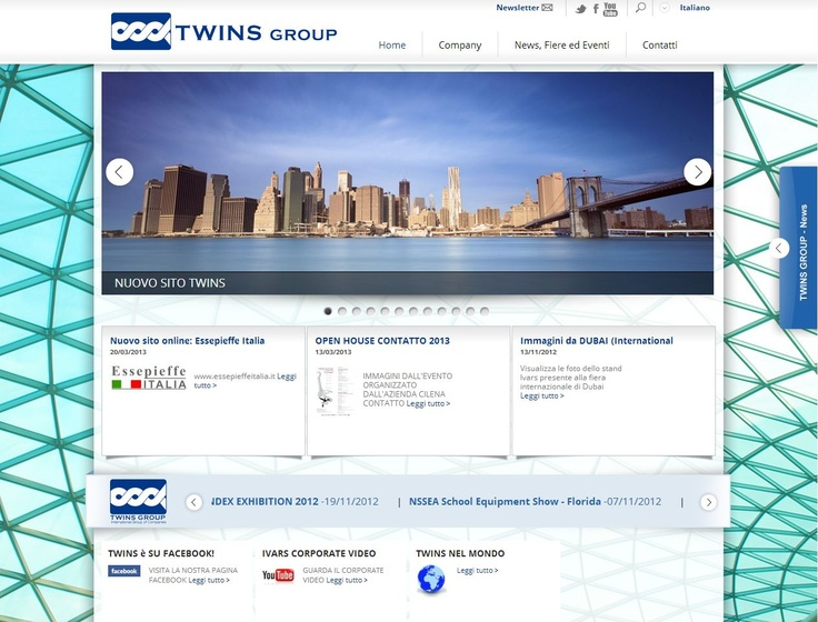Restyling siti web del gruppo Twins Group