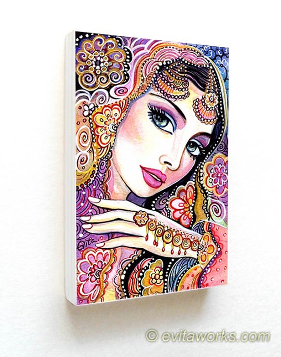 India Woman Fashion Eastern Jewelry Bollywood Ornate by evitaworks, $15.00