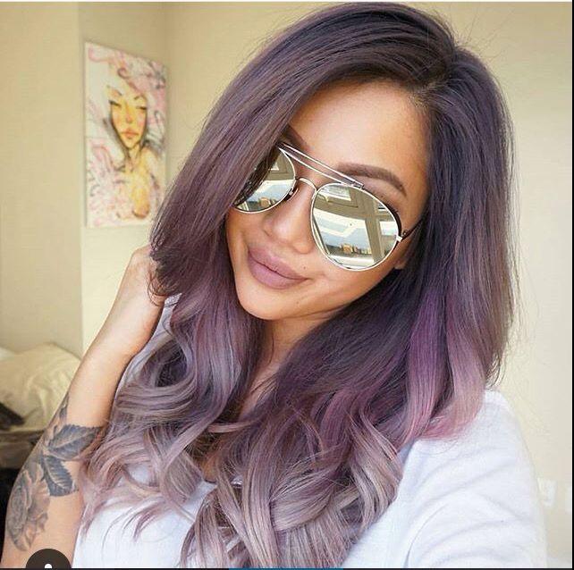 Lavender & Gray Ombre Hair