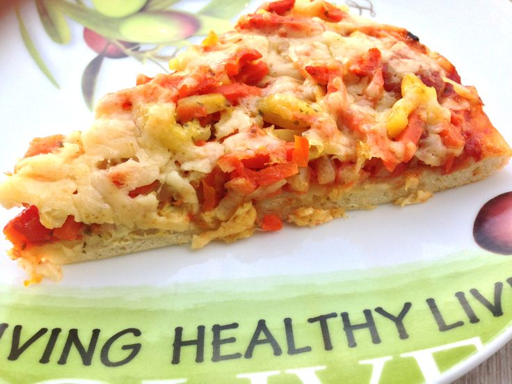 pizza se zeleninou s sýrem