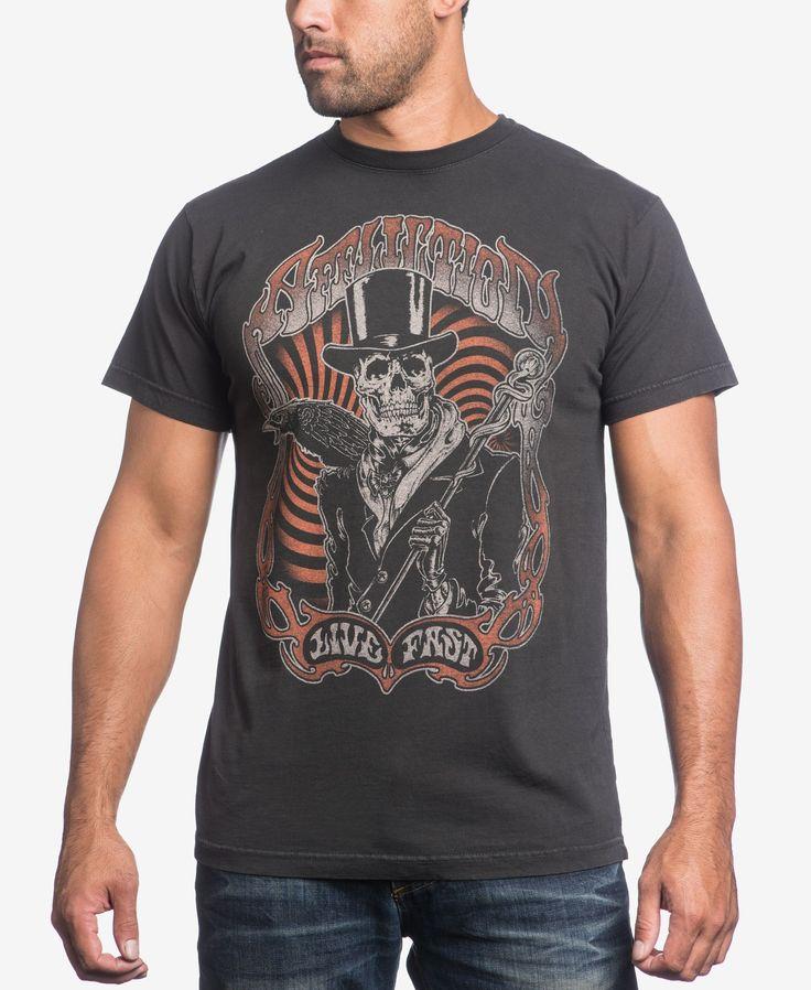 Affliction Men's Watchman Live Fast T-Shirt