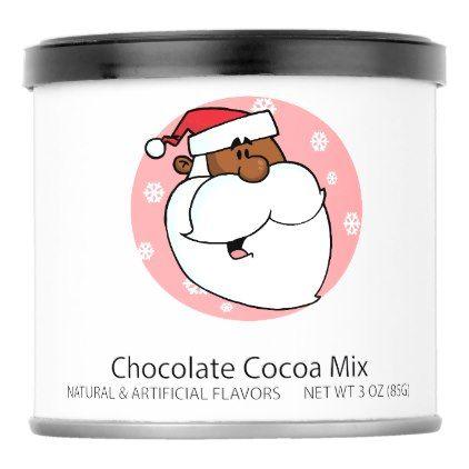 Black Santa Cartoon 1 Hot Chocolate Drink Mix - humor funny fun humour humorous gift idea