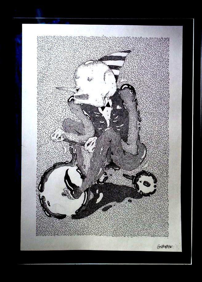 art brut original Celentano on bicycle lazy contemporary oaf dropdead weird | eBay