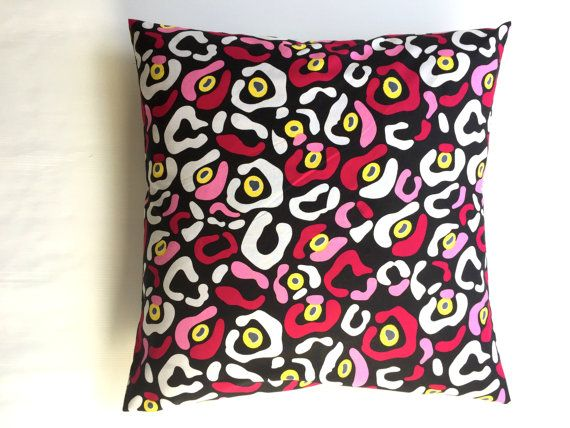Cushion cover handmade from vibrant multi-coloured by RhapsodyInc