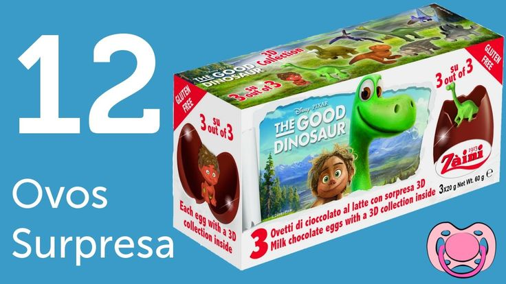 12 ovos surpresa - O bom dinosauro e Zootropolis
