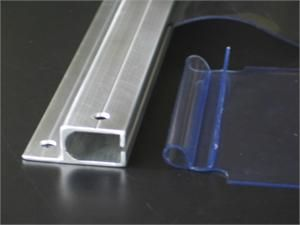 Vinyl Strip Curtain Mounting Bars, G series from Cool Curtain CCI, Strip Curtains Slide in Mounting Bar from CCI Industries (Cool Curtain) Strips for Walk In Coolers & Walk In Freezers, Replacement Strip Curtains Model G.