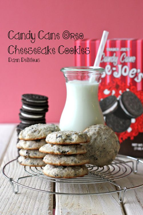 Candy Cane Oreo Cheesecake Cookies