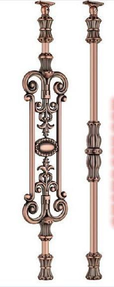 Freeshipping 850mm Personnalisé en aluminium alliage de magnésium clôture pilier carve designs patterns accoudoir