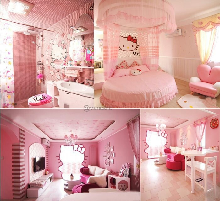 Hello Kitty Gon Glamorous For Little Girls Bedroom