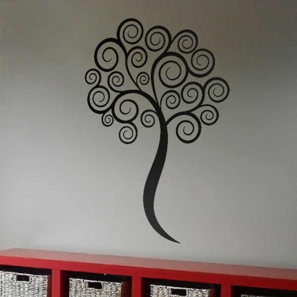 #autocollants #decalques #wall stickers #decals Arbre tourbillon / Swirly tree. $41.95