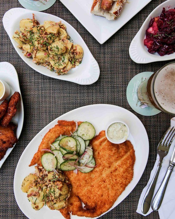 This meal will definitely cutlet. Schnitzel, German-style potato salad, @PigBleekerNYC spicy sausage on a pretzel roll and more on our Oktoberfest menu, now through October 15th! #eeeeeats #eater #forkyeah #forkfeed #foodandwine #lefooding #eattheworld #myfab5 #foodstagram #foodie #foodlover #foodbeast #foodilysm #bonappetit #lovefood #nyceeeeeats  #topcitybites #nyc #newyorkcity #newforkcity #nycfood #nyeats #nycfoodie #nycfoodporn #nycfoodies #nycfoodinsta #hungrynyc #oktoberfest