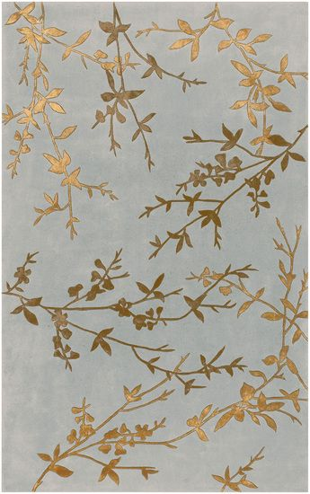 :: Gold and gray Tamira rug from Surya (TAM-1000) ::