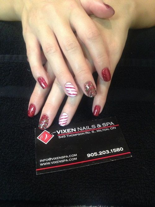 Holiday Manicure by popular demand www.vixenspa.com