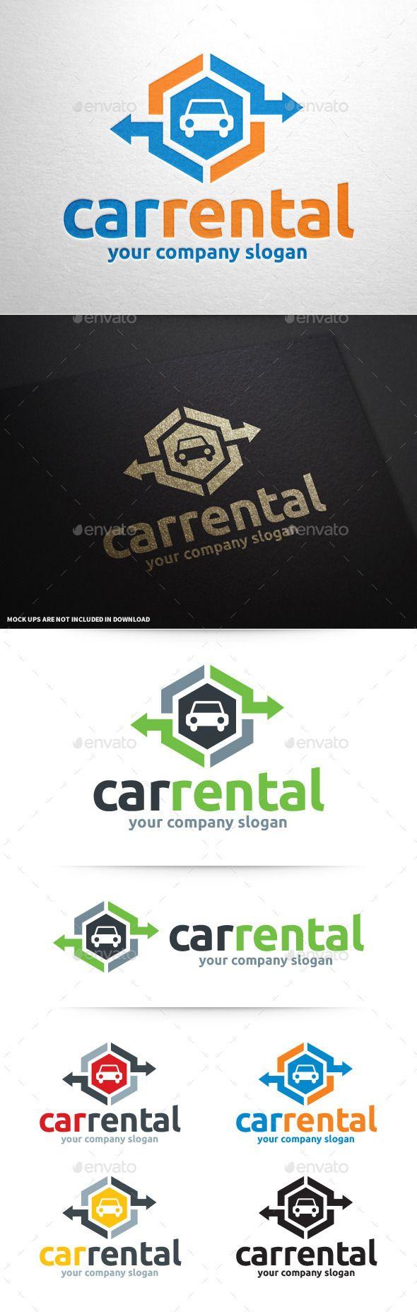 Car rental logo template