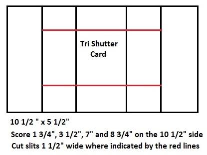Debbie's Designs:  tri-shutter card dimensions