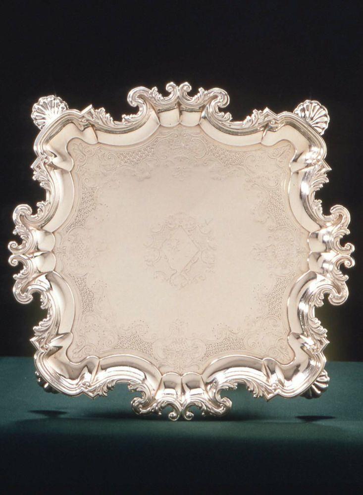Salver. English (London). Lewis Pantin I, 1735–36. Silver huguenot silversmiths - Bing Images