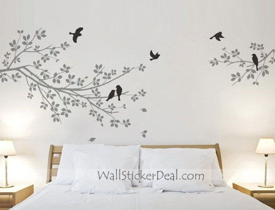 Best Branches Wall Stickers Images On Pinterest Tree Wall - Wall decals birdsbirds couple on branch wall decal beautiful bird vinyl sticker