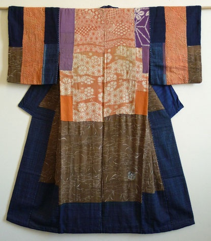 Kimono back :: deliberately mismatched seams to accent the sewn/patched nature of fabric garment construction?