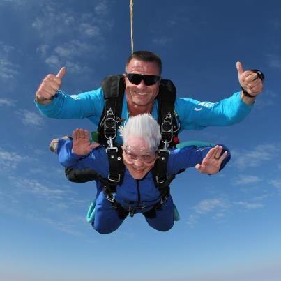 Skydiving Grandma