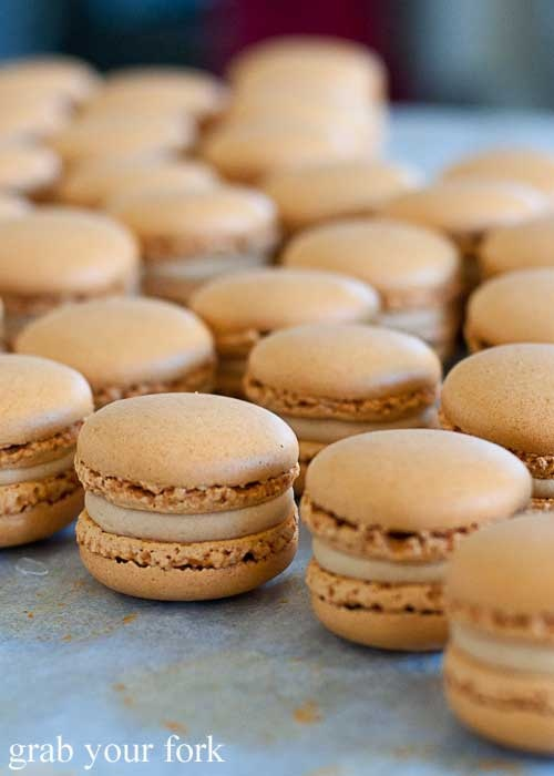Australia Day food - Vegemite Macarons. Definitely an interesting take on Australia Day food #AustraliaDay