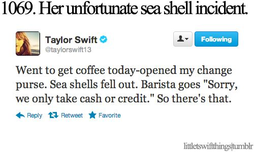 one of my favorite tweets ever.  Little Taylor Swift things.