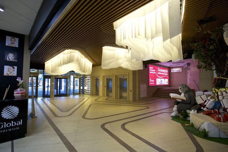Бумажный потолок Paper Design для декоративного оформления торгового центра