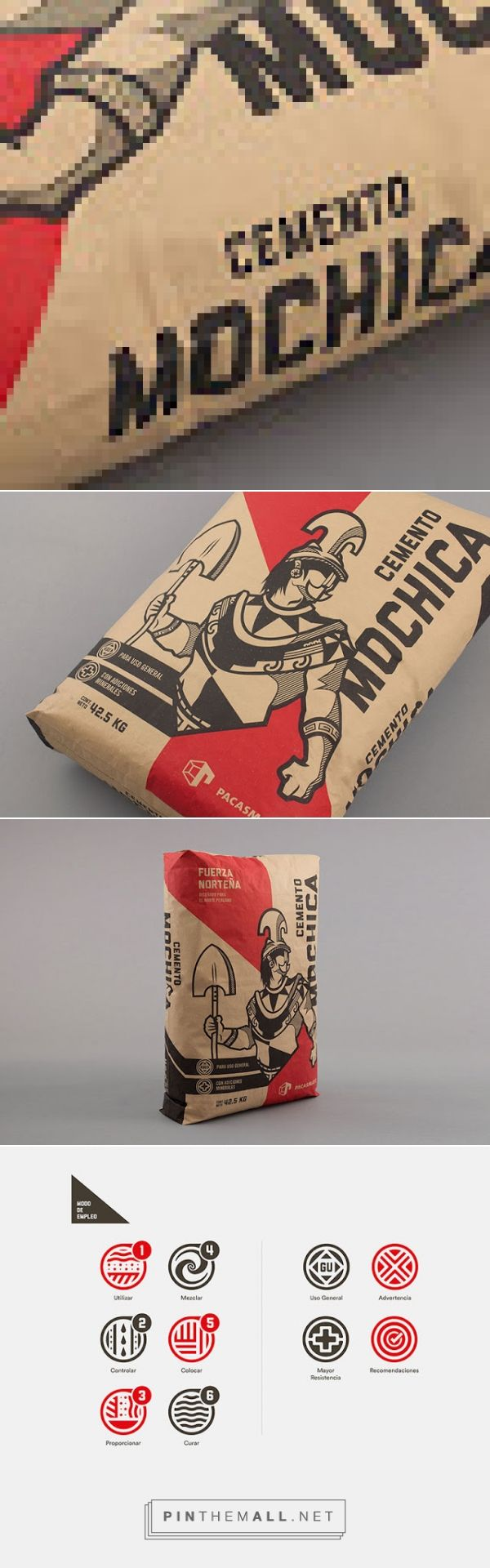 Cemento Mochica         on          Packaging of the World - Creative Package Design Gallery - created via https://pinthemall.net