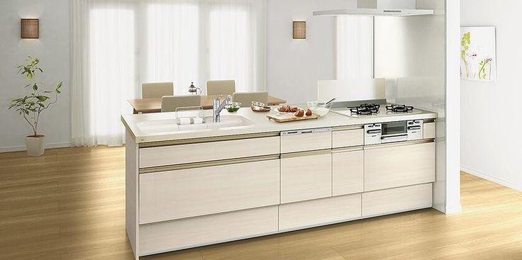 Lixil キッチン リシェルsi 施工イメージ Plan20 リシェルsi イタリアンウォルナット キッチン