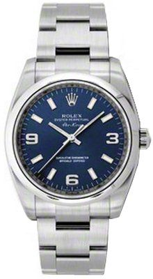 #rolexwatchesformen NEW Rolex Air King Blue Arabic Dial Stainless Steel Mens watch 114200 BLAO Check https://www.carrywatches.com