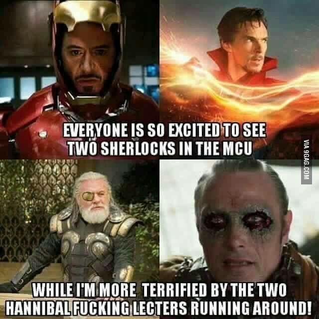 Marvel/Sherlock/Hannibal crossover xD<<< sorry for the language but this is absolutely true