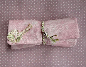 Shabby Chic Make up  Roll Pouch