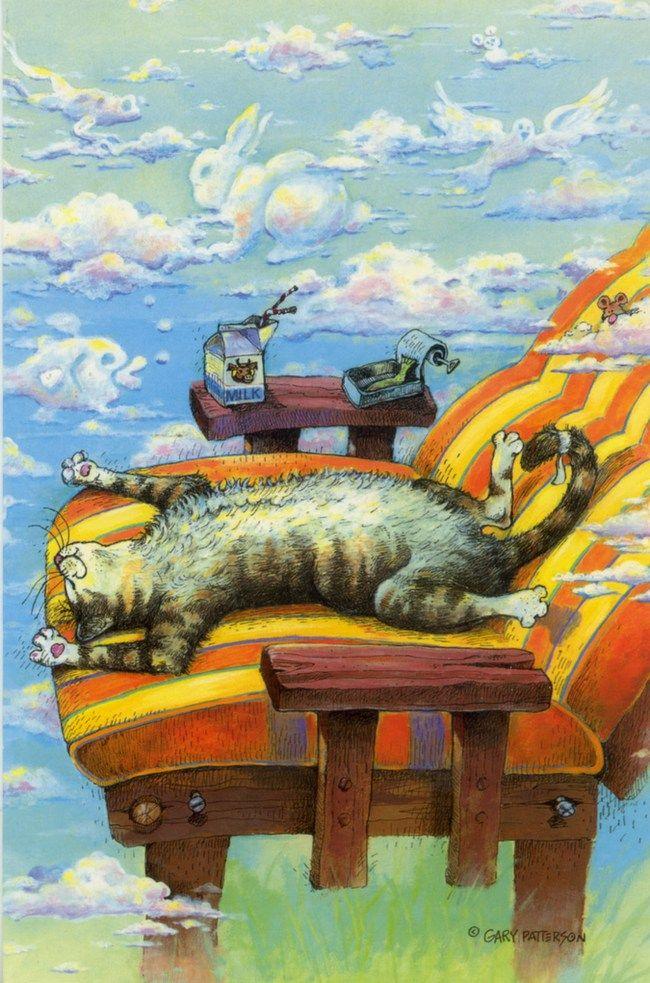 Картинки коты рисованные работают на котельной на трубе сидят, открытку