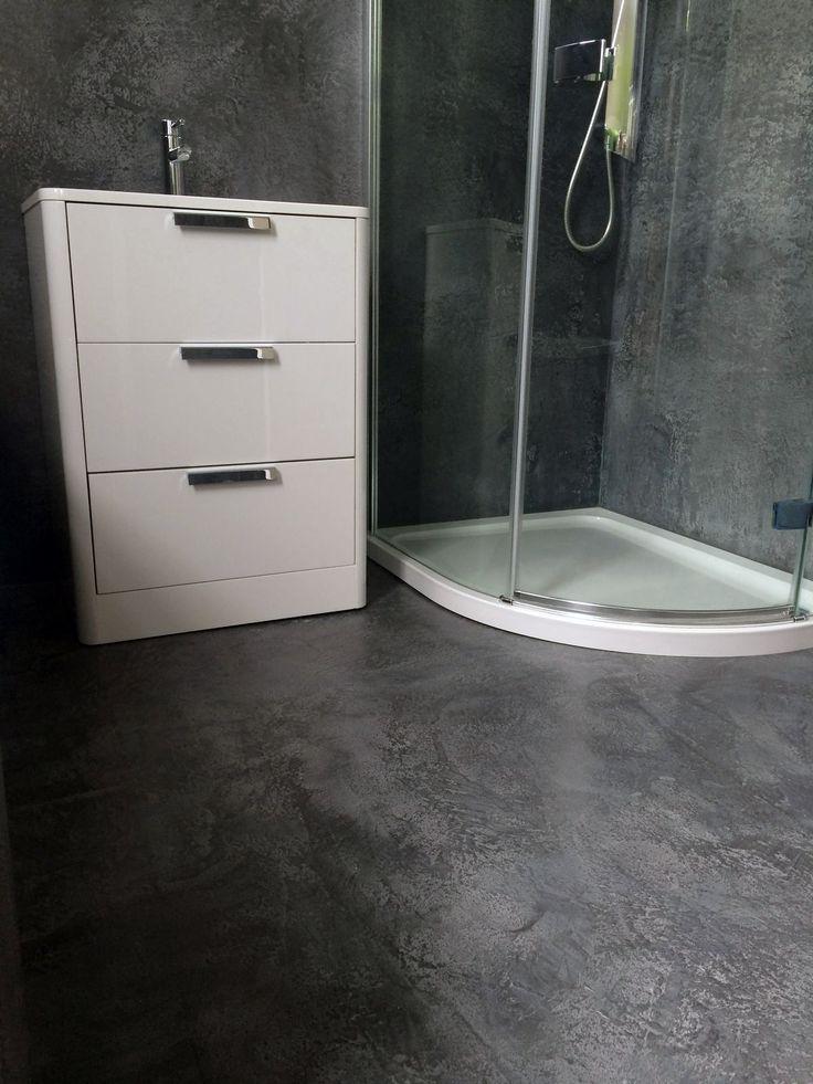Grey Mirco-cement Bathroom