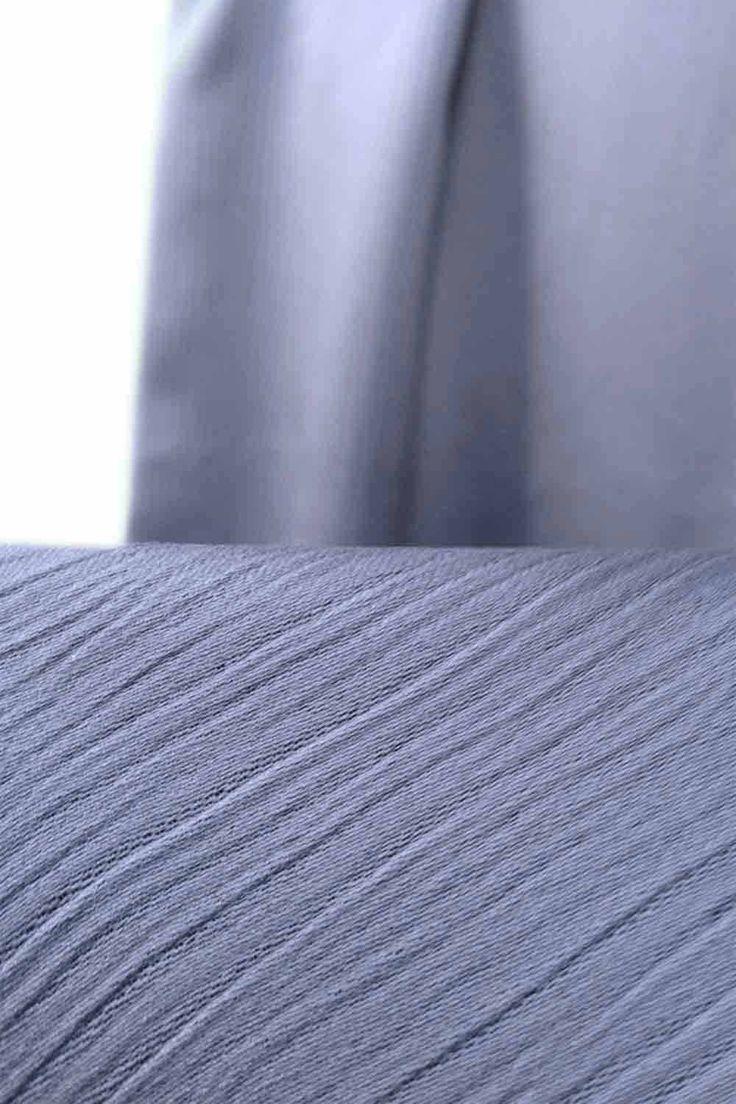 "Glaucous Scarf Hijab description  Color: Grey Blue Length: 78"" or 200cm Width: 29"" or 75cm  http://hijabila.com/product/grey-stripes-scarf/"