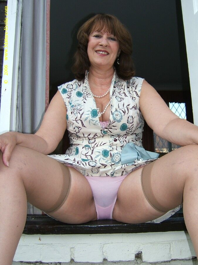 hot latina xxx p nties - mature woman spreading legs open for all to see her panties