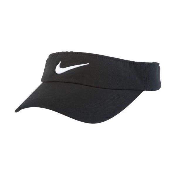 Nike Adults' Tech Swoosh Visor Hat found on Polyvore featuring polyvore, women's fashion, accessories, hats, clothing, nike, visors, nike hat, sun visor and visor hats