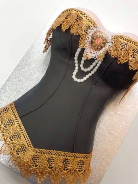 Clothing / Shoe / Purse - Love working with Lace! Another Corset Cake.