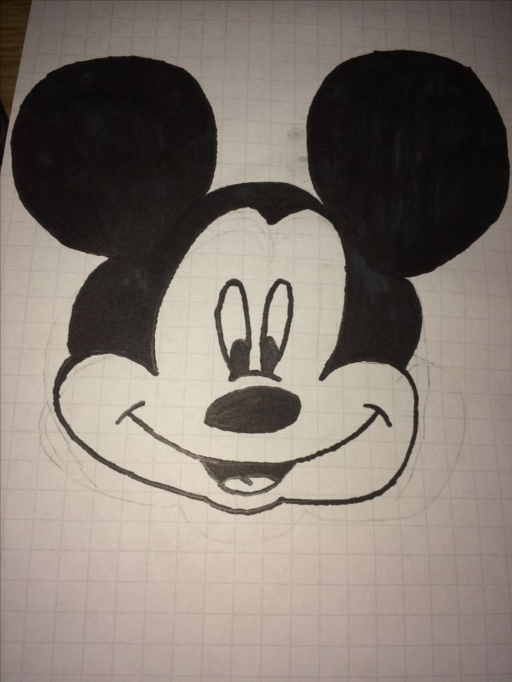 I love Disney especially Mickey Mouse so I just wanted to draw him