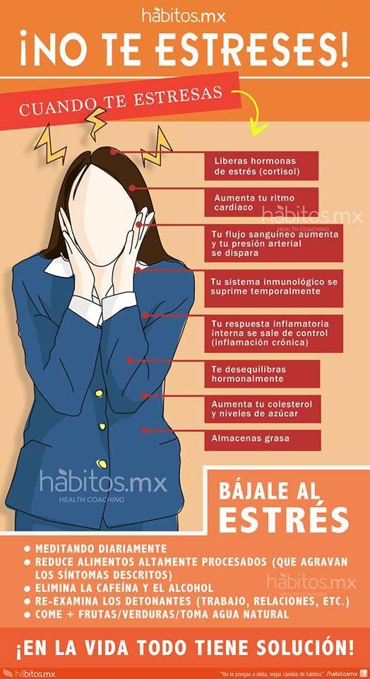 Hola: Una infografía que nos dice: No te estreses. Vía Un saludo