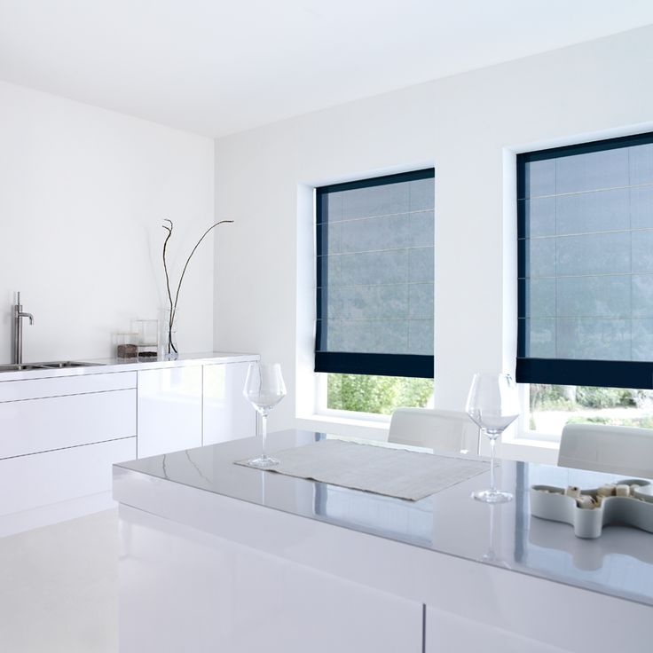 Luxaflex  Roman Shades - Roman blinds with a contemporary look and feel.