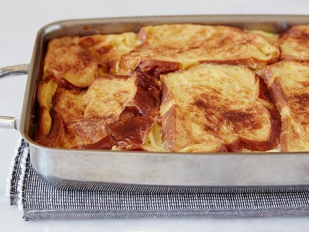 Recipe of the Day: Ina's French Toast Bread Pudding Now let's talk facts: Flipping French toast for a crowd means the crowd eats breakfast without you. On the other hand, loading all of the expected French toast components — eggy challah and honey-spiked custard — makes for a brunch-ready bread pudding for a crowd.
