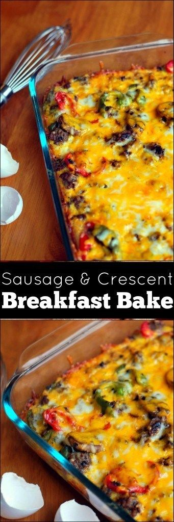 Sausage & Crescent Breakfast Bake | Aunt Bee's Recipes