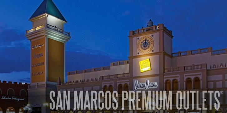 San Marcos Premium Outlets: Shop til you drop at this HUGE outlet mall. I don't think it is possible to do every store in the place in a day. We've tried but generally we have to divide and conquer. Good place to catch deals if you have time to shop around.