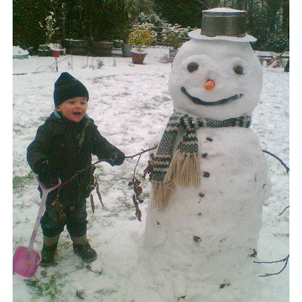 Adorable! Pictures of snowmen sent in by Telegraph readers around Britain.