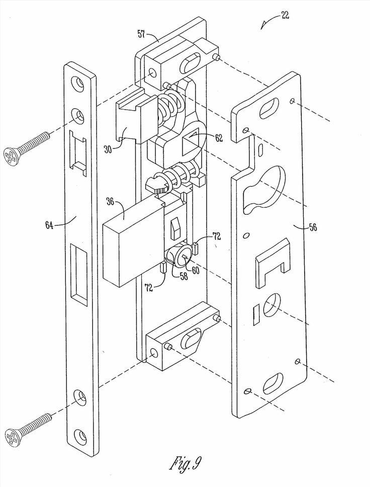 door latch parts diagram