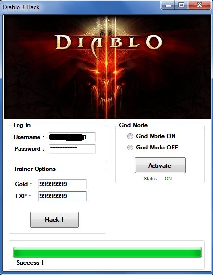 Diablo 3 Hack and Keygen Download